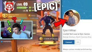 This Fan gives PROOF he is an EPIC GAMES EMPLOYEE.. (Fortnite Battle Royale)