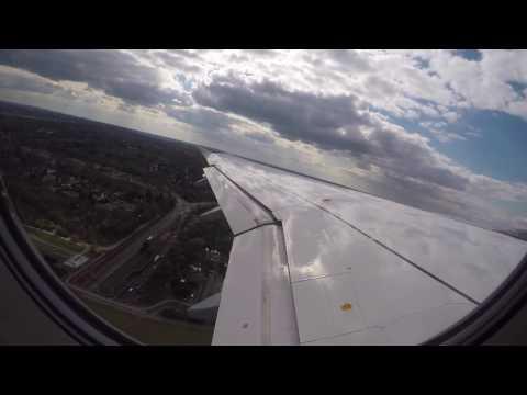 Lufthansa Airbus A320 - Hamburg to Frankfurt - Full Flight - FRA EDDF 25R