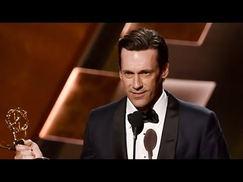 Jon Hamm Finally Wins an Emmy, Thanks Ex Jennifer Westfeldt