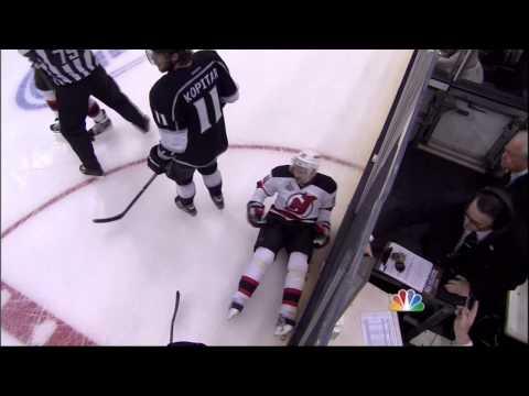 Brown hit on Sykora in 3rd New Jersey Devils vs LA Kings Stanley Cup Game 6 6/11/12 NHL Hockey