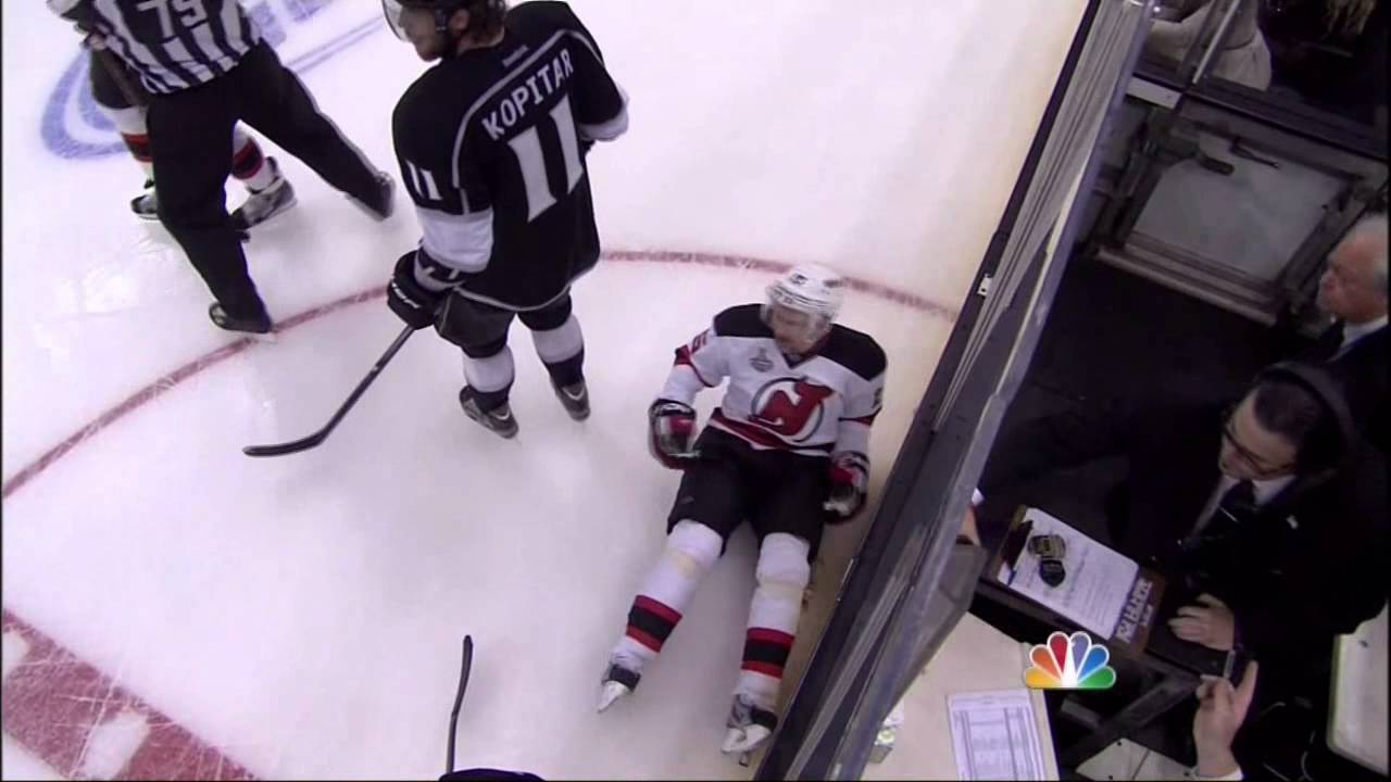 4f22878addb Brown hit on Sykora in 3rd New Jersey Devils vs LA Kings Stanley Cup Game 6  6/11/12 NHL Hockey