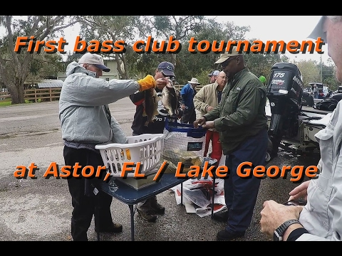First Bass Club Tournament At Astor,FL / Lake George
