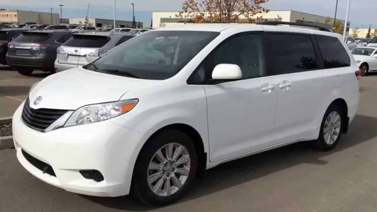 Pre Owned White 2013 Toyota Sienna LE AWD Walk Around Review - Spruce ...