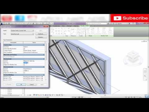 CURTAIN WALL-REVIT ARCH 2016
