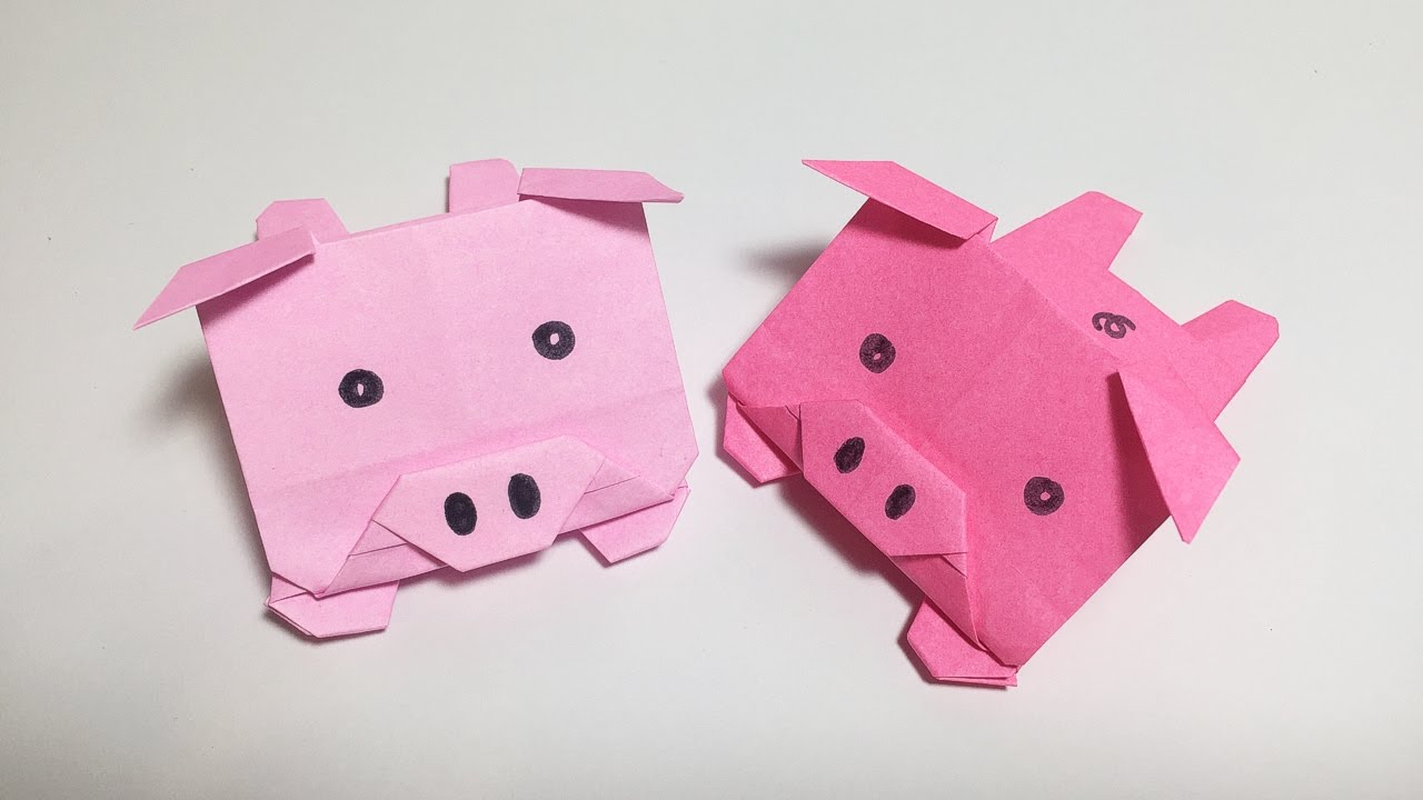 3d origami pig learn origami how to make origami pig