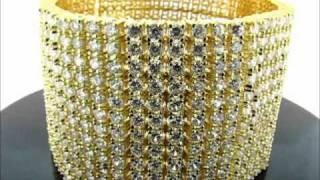 12 Rows Iced Out Hip Hop CZ Bracelet(BRCZ-1209GR) Thumbnail