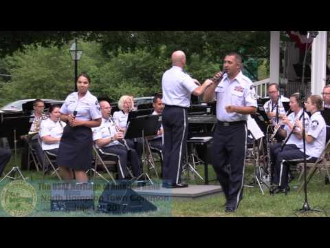 The USAF Heritage of America Band At The Town Common July 1st, 2017