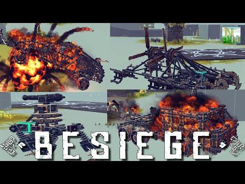 Четыре постройки которые заставят улыбаться и удивляться Besiege v0.09