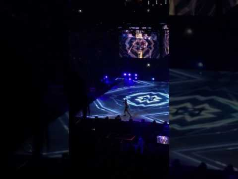 Chris Brown performing do you mind