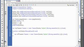 Building Websites in Flash CS3 (08-ActionScript Transitions)