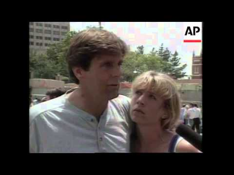 USA: OKLAHOMA: REACTION TO TIMOTHY McVEIGH GUILTY VERDICT