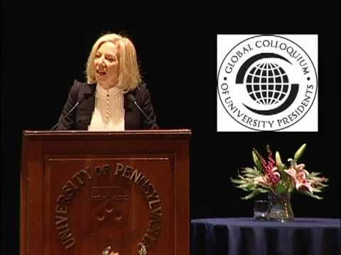 Public Opening of Global Colloquium of University Presidents by Penn President Amy Gutmann
