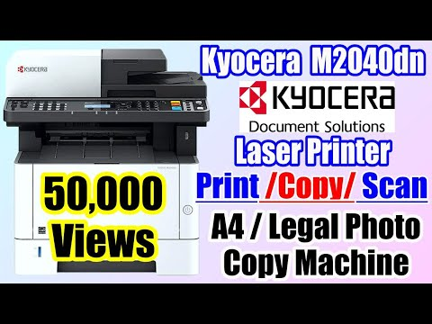 Kyocera ECOSYS M2040dn Unboxing And Review