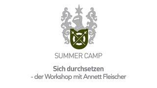 Summer Camp 2018 Teaser : Workshop mit Annett Fleischer