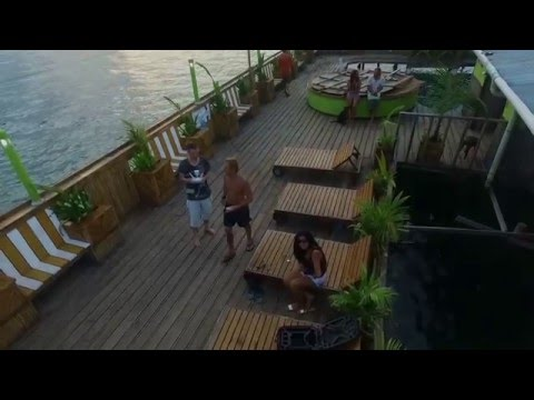 Bocas del Toro Town and Aqua Lounge with Phantom Drone