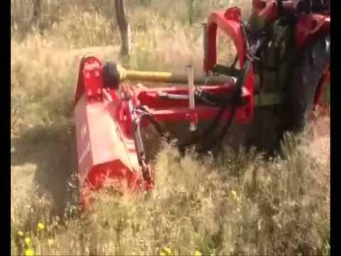 Desbrozadora Tractor Zomax Zm Agl145 Con Desplazamiento Lateral.Wmv