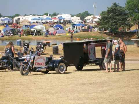 Harley Hearse At Sparks America Bike Week Oklahoma 2009 Youtube
