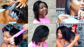 RELAXER DAY 2016: START TO FINISH + Blow Dry, Flat Iron, Trim, & Style