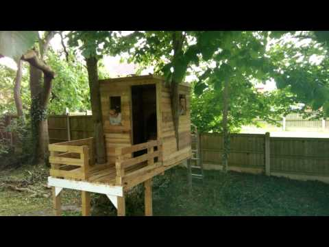 From Pallets To Treehouse Ii Youtube