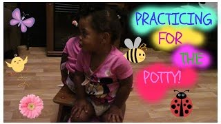 Practicing for the Potty! Twin Moments - Part 1