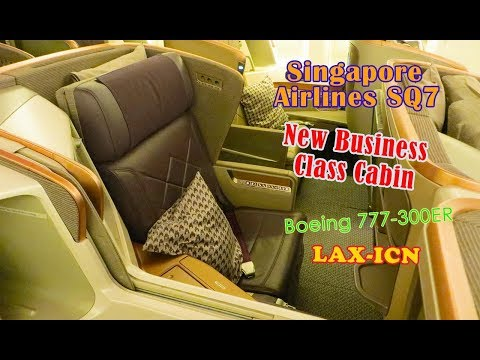 SQ Singapore Airlines Business Class B777 Los Angeles (LAX) to Seoul (ICN)