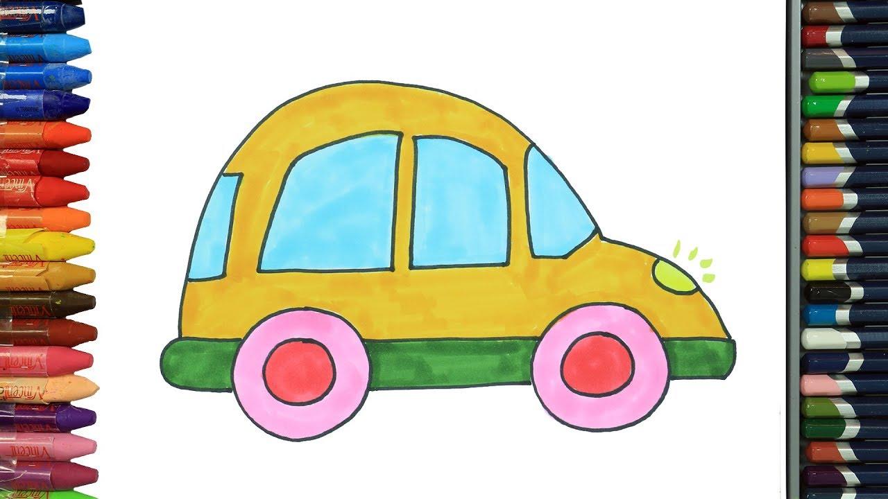 Araba kolay çizim | Nasıl çizilir | Çocuklar için eğlenceli boyama | Çizelim Boyayalım