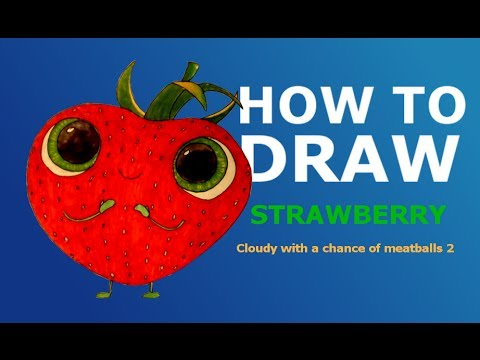 Cloudy with a chance of meatballs 2 coloring pages strawberry