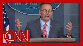 White House admits quid pro quo over Ukraine aid