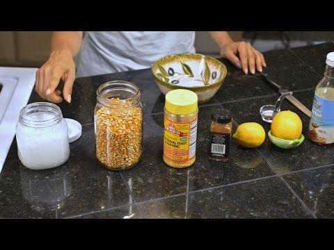 Como preparar Palomitas de maiz en casa.  Saludables!  Healthy  Popcorn!