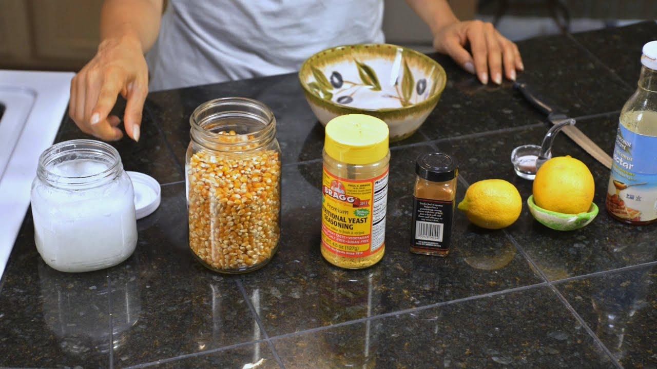 Como preparar Palomitas de maiz en casa. Saludables! Healthy Popcorn ...