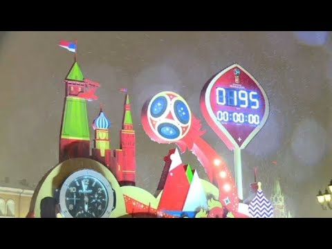 Clock counts down to the World Cup start date in Russia