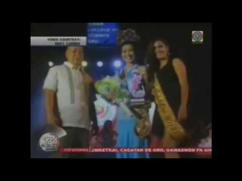 Miss Carmen 2014 featured in TV Patrol Northern Mindanao