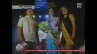 Miss Carmen 2014 featured in TV Patrol Northern Mindanao