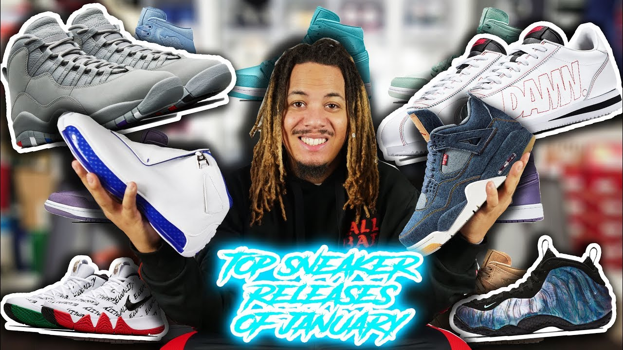 2d70aabbd880 TOP 10 SNEAKER RELEASES OF JANUARY 2018 - YouTube