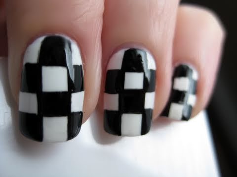 Checkered Nail Art Youtube
