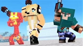 Minecraft Song 1 Hour: Girls and Secrets! Superheros 5 Minecraft Animations and Music Video Series!