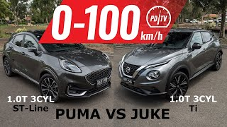 2021 Ford Puma vs Nissan Juke: 0-100km/h & comparison