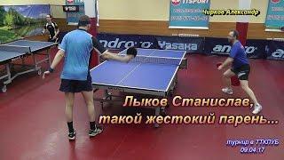 этот жестокий настольный теннис момент матча Лыков С. - Чирков А.