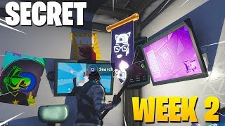 *NEW* SECRET BATTLE STAR WEEK 2 LOCATION! FORTNITE SECRET BANNER WEEK 2 SEASON 7