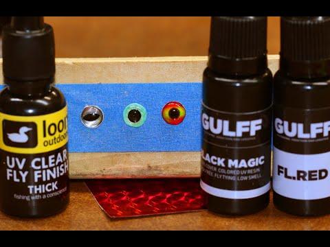 Make UV Glue Eyes For Fly Tying, Lure Making, Crafts