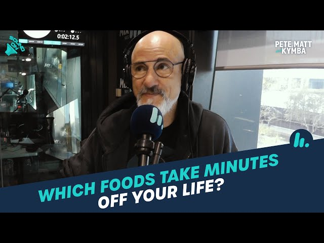 Which Foods Take Minutes OFF Your Life? 🧐 | Pete, Matt and Kymba | Mix94.5