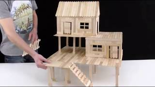 make a pepsicole stick house in only 3 mins