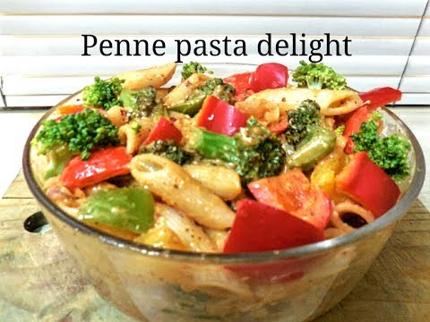 Instant Penne Pasta delight/ great way to incorporate Exotic veggies in your menu