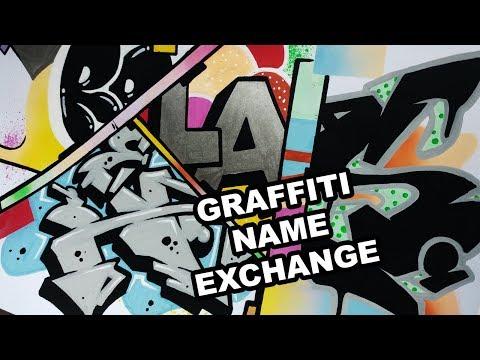 "Graffiti Name Exchange ""RELAS"" Shave x Blackookart"