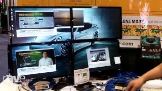InfoComm 2014: Tri-Net Technology Explains Display Port to HDMI 1x4 UTP Splitter with MST