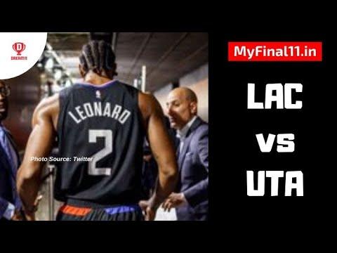 Lac Vs Uta Dream11 Match Prediction Nba 2019 20 Season Los Angeles Clippers Vs Utah Jazz