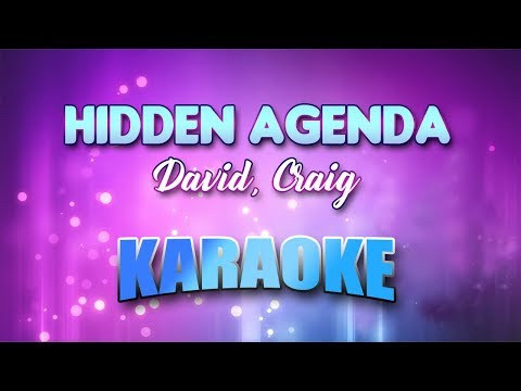 Hidden Agenda - David, Craig (Karaoke version with Lyrics)