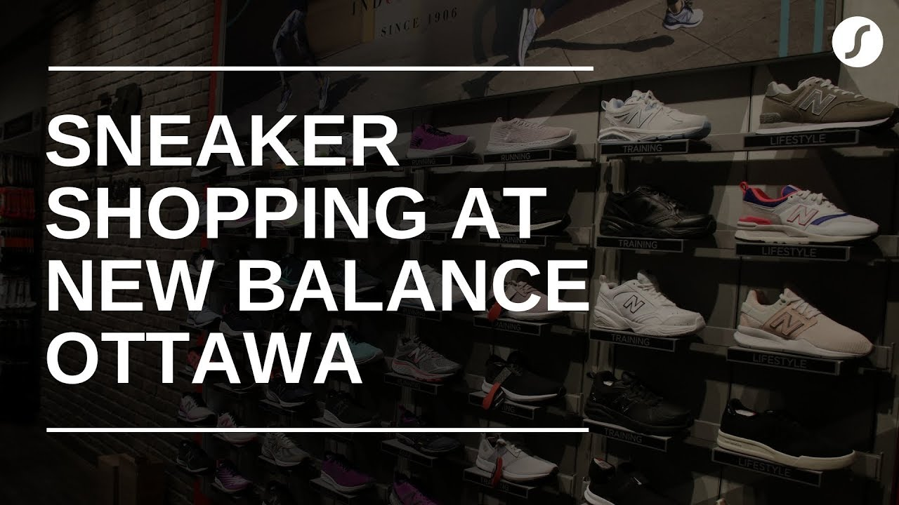 Sneaker shopping at New Balance Rideau Centre in Ottawa, Canada︱SHIFTER