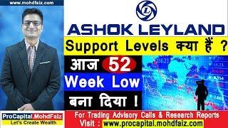 Ashok Leyland - Support Levels क्या हैं - आज 52 Week Low बना दिया | Latest Share Market Videos