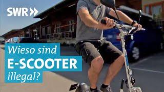 E-Scooter - Illegal durch die Stadt
